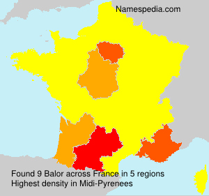 Surname Balor in France