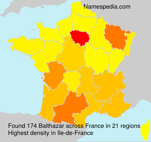 Surname Balthazar in France