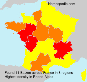 Surname Balzon in France