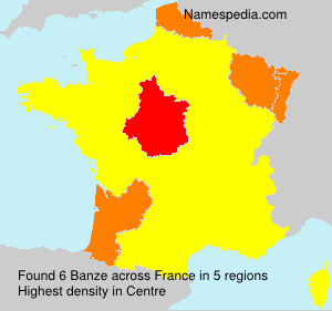 Surname Banze in France
