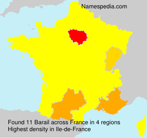 Surname Barail in France