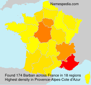 Surname Barban in France