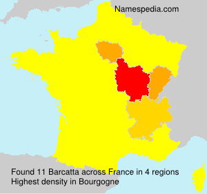 Surname Barcatta in France