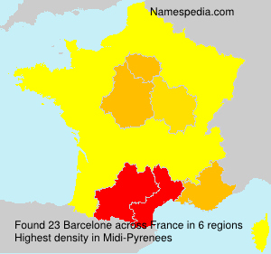 Surname Barcelone in France