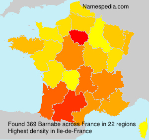 Surname Barnabe in France