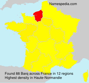 Surname Barq in France