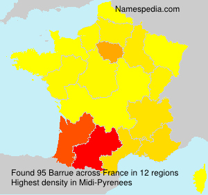 Surname Barrue in France