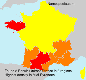 Surname Barwick in France