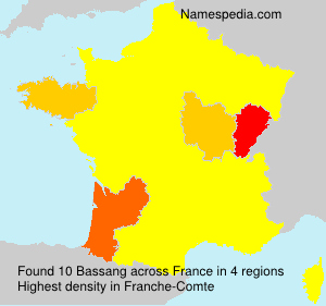 Surname Bassang in France