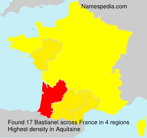 Surname Bastianel in France