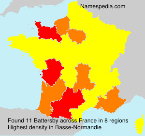 Surname Battersby in France