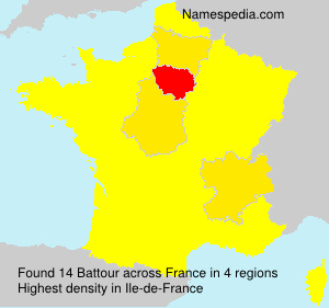 Surname Battour in France