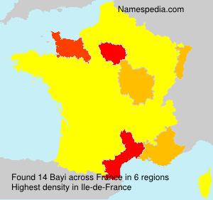 Surname Bayi in France