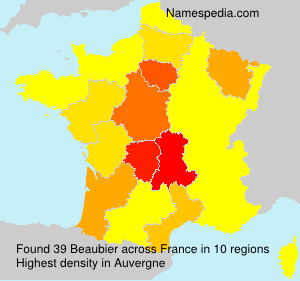Surname Beaubier in France