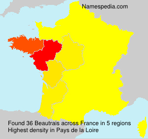 Surname Beautrais in France