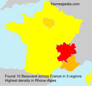 Surname Beauverd in France