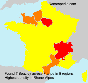 Surname Beazley in France