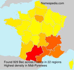 Surname Bec in France