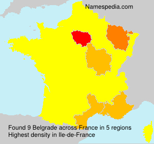 Surname Belgrade in France
