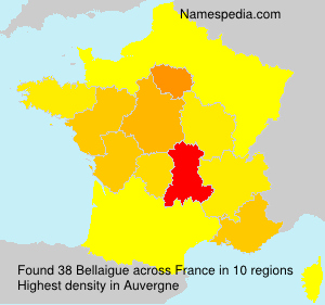 Surname Bellaigue in France