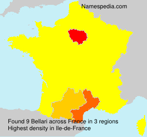 Surname Bellari in France