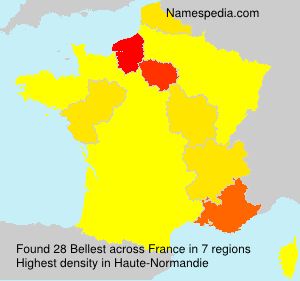 Surname Bellest in France