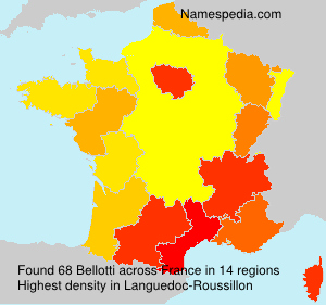 Surname Bellotti in France