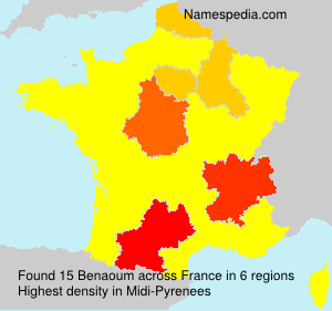 Surname Benaoum in France