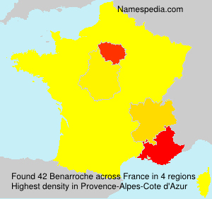 Surname Benarroche in France