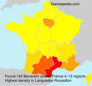 Surname Benavent in France