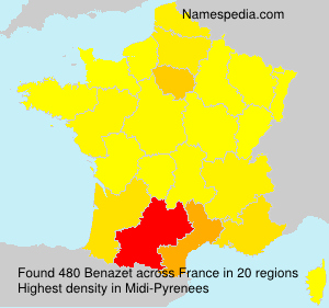 Surname Benazet in France