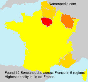 Surname Benbahouche in France