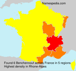 Surname Benchennouf in France