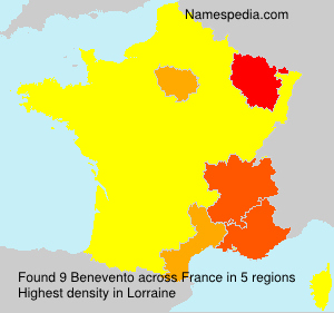 Surname Benevento in France