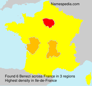 Surname Benezi in France
