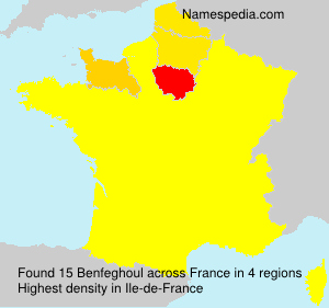 Surname Benfeghoul in France