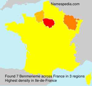Surname Benmerieme in France