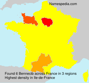 Surname Bennecib in France