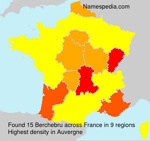 Surname Berchebru in France