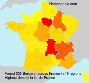 Surname Bergerat in France