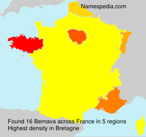 Surname Bernava in France