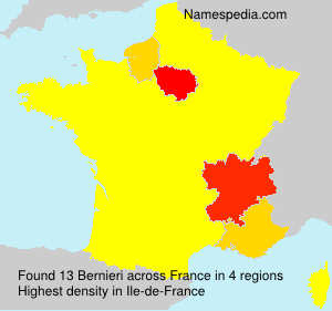 Surname Bernieri in France