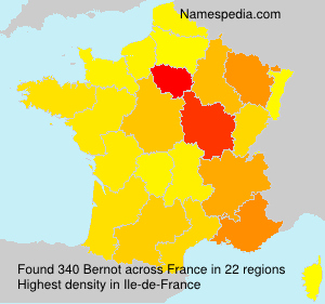 Surname Bernot in France