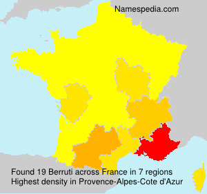 Surname Berruti in France