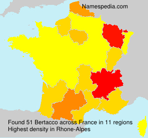 Surname Bertacco in France