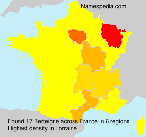 Surname Berteigne in France