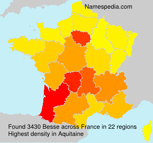 Surname Besse in France