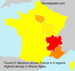 Surname Bessiron in France