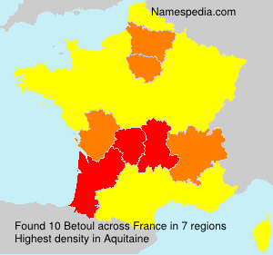 Surname Betoul in France