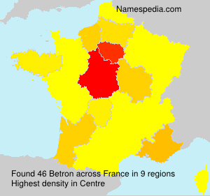 Surname Betron in France
